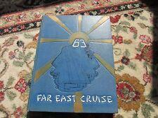 CVA 63 USS Kitty Hawk 1963 Far East Cruise Book Missile Attack Aircraft carrier