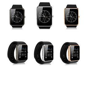 Smart-Watch-Edelstahl-Bluetooth-Smartphone-Armband-Uhr-Gear-Handy-Smartwatch