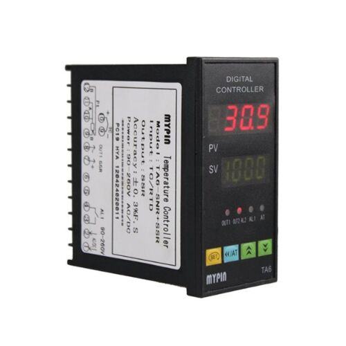 MYPIN Universal Digital TA6-SNR PID Temperature Controller with Relay DIN 1//8...