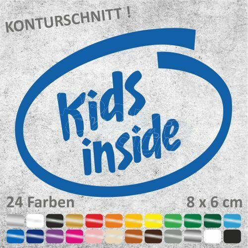KIDS INSIDE Autoaufkleber Kinder JDM Sticker Aufkleber 8 x 6 cm ...