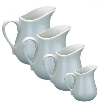 Apollo Porcelain Ceramic White Milk Cream Sauce Jug Choice of Sizes