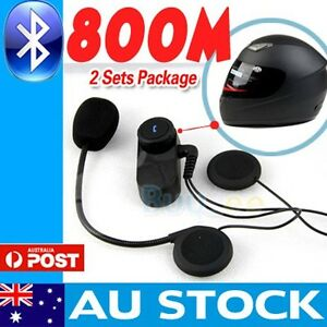 2-x-800M-BT-interphone-Bluetooth-Motorbike-Motorcycle-helmet-intercom-Headset-AU