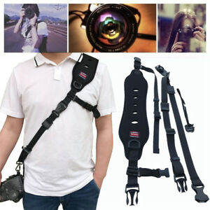 Black-Single-Shoulder-Sling-Belt-Strap-For-DSLR-Digital-SLR-Camera-Quick-Rapid