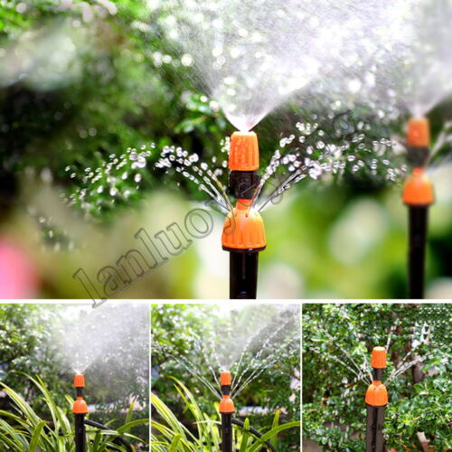 20pcs Misting plastic atomizing sprinkler nozzle 1//4/'/' flow adjustable