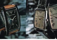 PUBLICITE ADVERTISING 075  2001  les montres EMPORIO ARMANI  ( 2 pages)