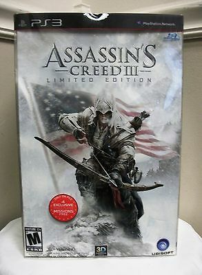 NEW PS3 ASSASSIN'S CREED III LIMITED EDITION VIDEO GAME BUNDLE PLAYSTATION 3