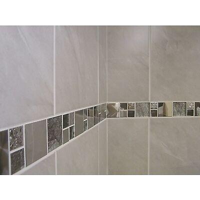 10-30m2 or Sample Travertine Effect Grey Bathroom Wall Tile Deal Inc Borders