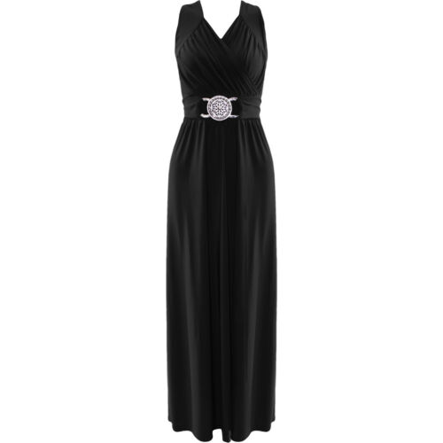 Womens Maxi Dress Ladies Evening Buckle Wrap Over Cocktail Party Long