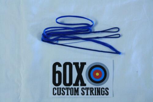 "60X Custom Cordes 56/"" 60 Amo 14 Strand Blue Dacron B50 Recourbé Arc Bow"