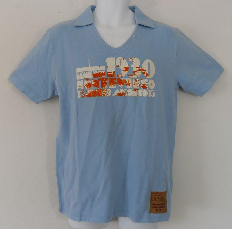 Poco común  FIFA 1930 Uruguay Copa del Mundo de fútbol socer Camiseta Jersey Fútbol Camiseta  2XL