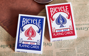 2-Decks-of-Bicycle-Chic-Gaff-Playing-Cards-by-Bocopo-1-Red-amp-1-Blue-USPCC