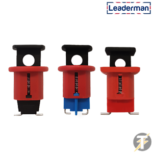 Leaderman Set of 3 MCB Push Pin Isolation Locks Lockout Lock Off device LMLOK-PP
