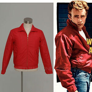 5df43a716 Rebel Without a Cause Style Red Jackets Jimmy James Byron Dean ...