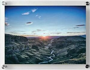 Acrylic-Wall-Mount-Floating-Frameless-Picture-Holder-8x10-for-Diploma-amp-Portrait
