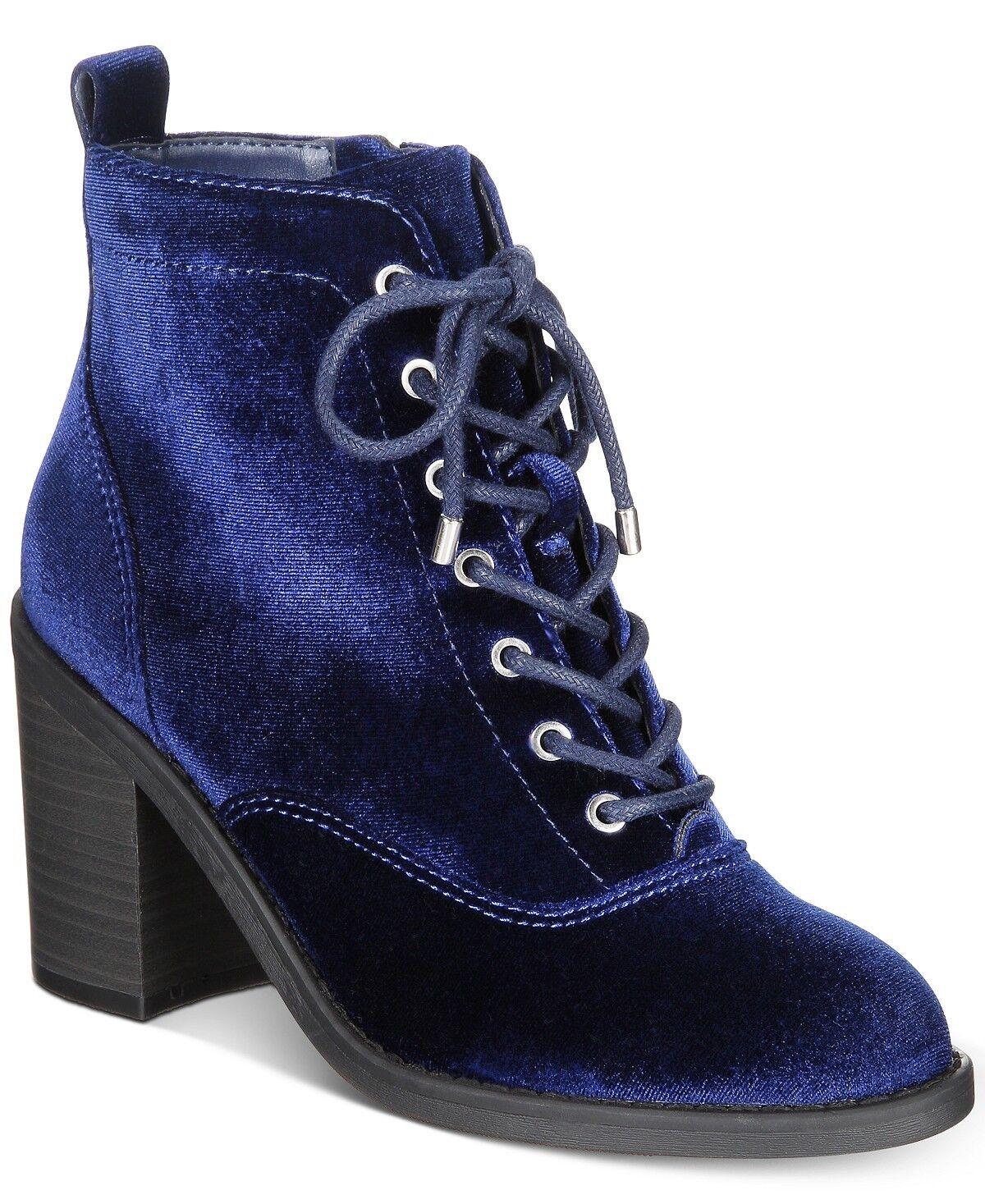 Material Girl femmes Landrey Lace Up démarrageies Navy bleu Taille 6.5 Brand New