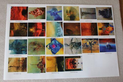 Zdzislaw Beksinski Conjunto de 12 carteles 11.8 X 16.5 puede elegir entre 357 carteles