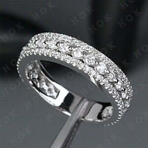 2Ct-Round-Cut-Diamond-Wedding-Anniversary-Band-Ring-Real-Solid-10k-White-Gold