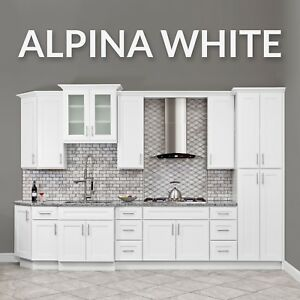 Details about 10x10 ALL WOOD White Kitchen Cabinets Fully Upgraded Group  Sale
