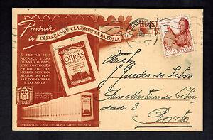 1947-Portugal-Postcard-cover-to-porto-Book-Seller
