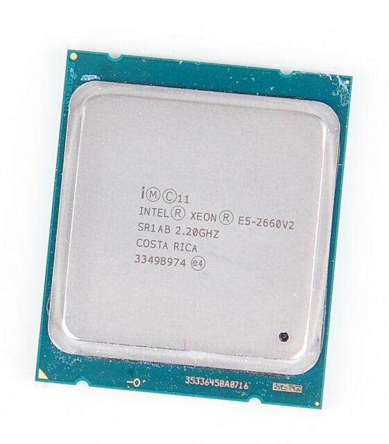 Intel Xeon E5-2660v2 10-Core CPU 10x 2.20 GHZ 25 MB Smartcache Prise 2011 SR1AB