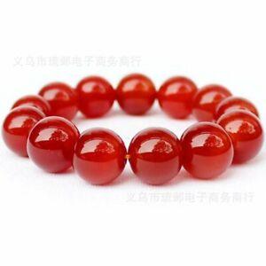 Unisex Bracelet Natural HighQuality Gemstone Red Ruby Bead Healing Reiki UKseler