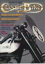 Classic Bike 1986-04  BSA G14 v-twin Matchless G3  Gregory DOT Demon Manx Norton