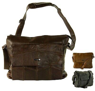 New Ladies Women Lorenz Cowhide Real Leather Tote Barrel Shoulder Bag Handbag