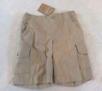 Lands End Shorts 4 Boys Khaki Tan Cargo Pockets Elastic Waist