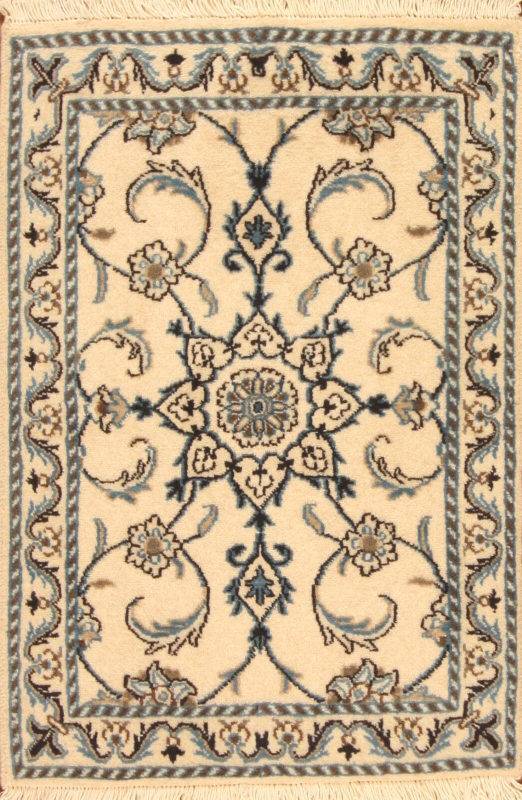 TAPPETO Orientale Vero Annodato Tapis persan 641 (90 x 60) cm Nuovo