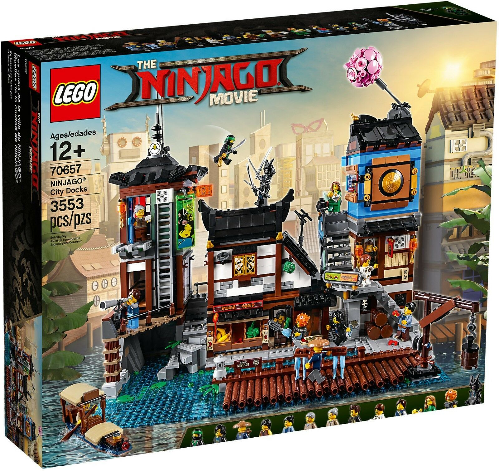LEGO 70657 Porto di NINJAGO® City - NINJAGO MOVIE 12 Pz 3553