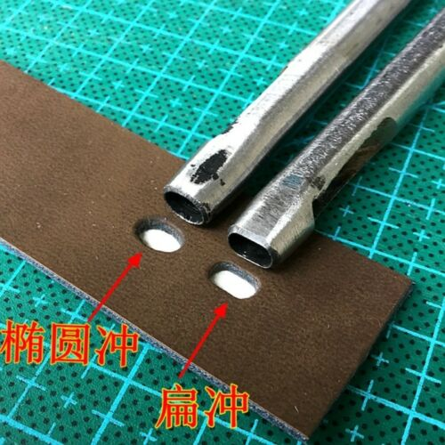Leather Craft Oval Oblateness Hole Steel Puncher Cutter Hollow DIY Tool Home New