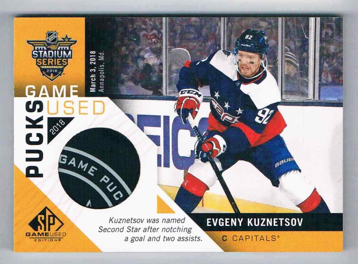 finest selection a1225 a78de 2018-19 SP GAME USED PUCK STADIUM SERIES EVGENY KUZNETSOV WASHINGTON  CAPITALS