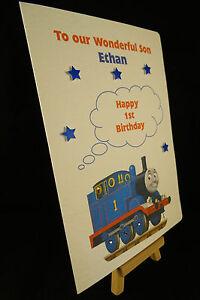 Personalised /& HandMade Thomas The Tank Engine Birthday Card Son,Grandson