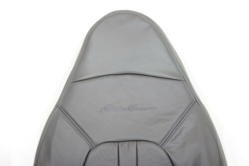 2001 Ford Expedition Eddie Bauer Driver Side lean back Leather Seat Cover Gray