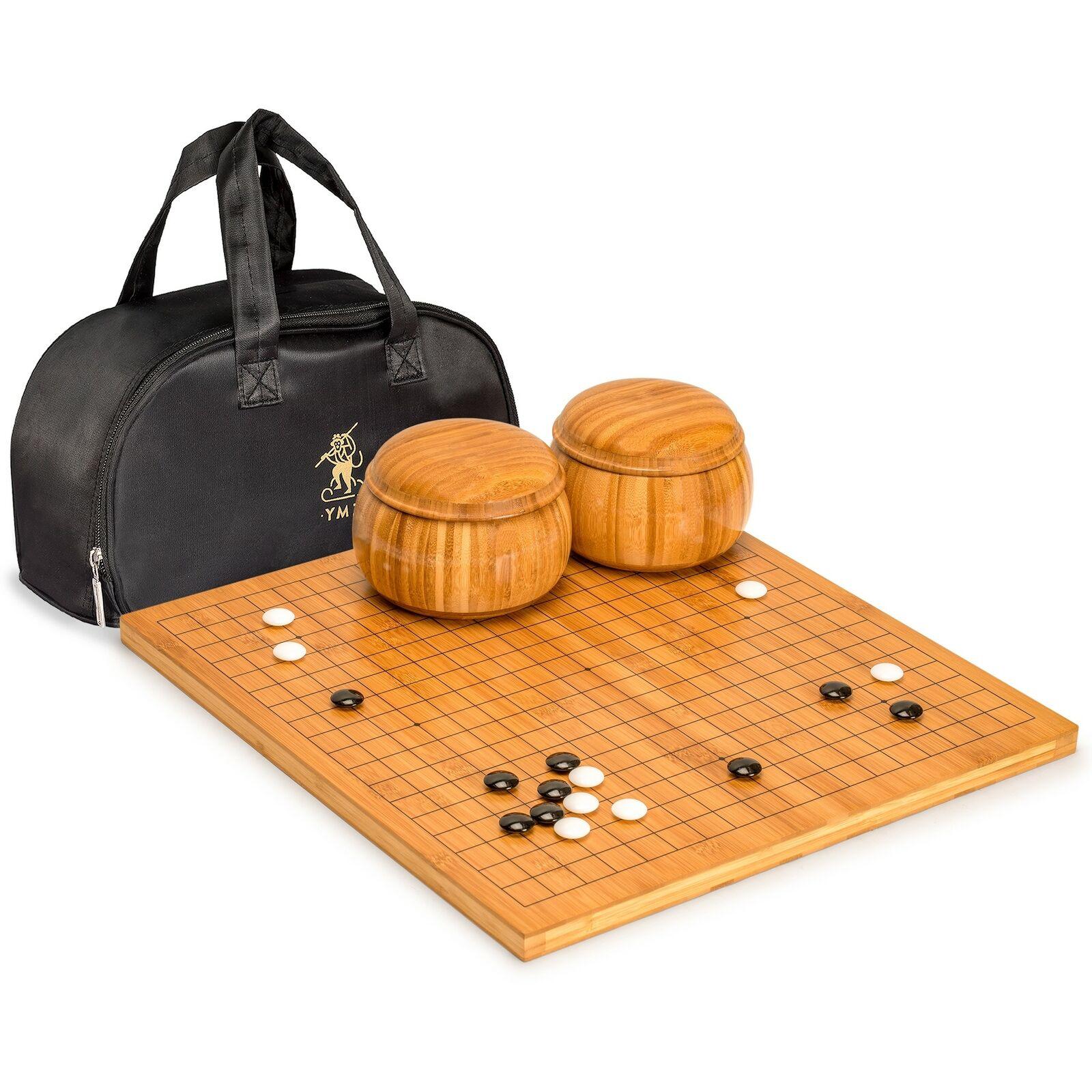 Bamboo 0.8  Go Board con piedras y tazones de melamina doble convexo set