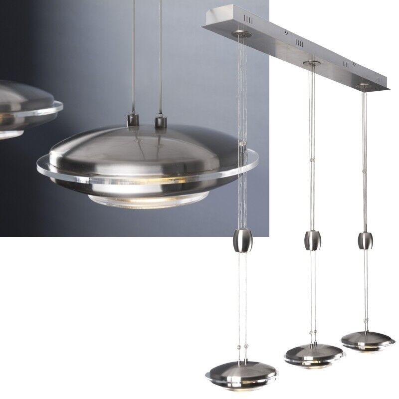 Dimmbare LED Pendel-Leuchte variable Höhe 1920lm 230V 24W EEK A+ Hänge-Lampe