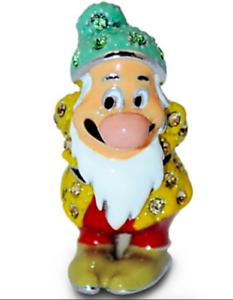 New Disney Parks Arribas Brothers Swarovski® Crystal Bashful Jeweled Mini Figure