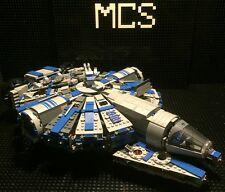 Custom Lego Compatible Star Wars Blue/Gray Corellian Patrol Ship With Crew! NEW!