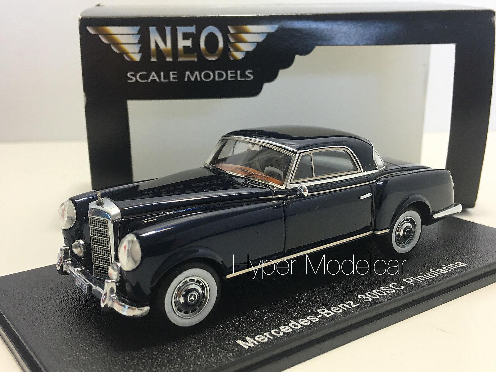 NEO SCALE MODEL 1 43 Mercedes 300 SC (W186) Pininfarina 1955 bleu Art.NE3A
