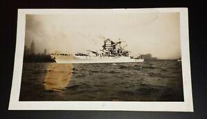 Battleship U.S.S New Mexico BB 40 Navy Photo Original Vintage