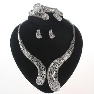 fashion jewelry sets women dubai costume bridal wedding crystal