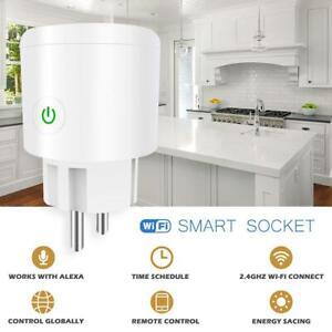 WIFI-Smart-Power-Socket-Wireless-Steckdose-EU-Plug-Time-Fuer-Alexa-Google-IOS