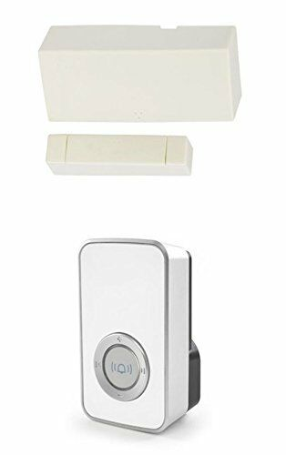 Wireless Door Entry Sensor Contact with White 32 Melody Chime / Bell Shop Alert