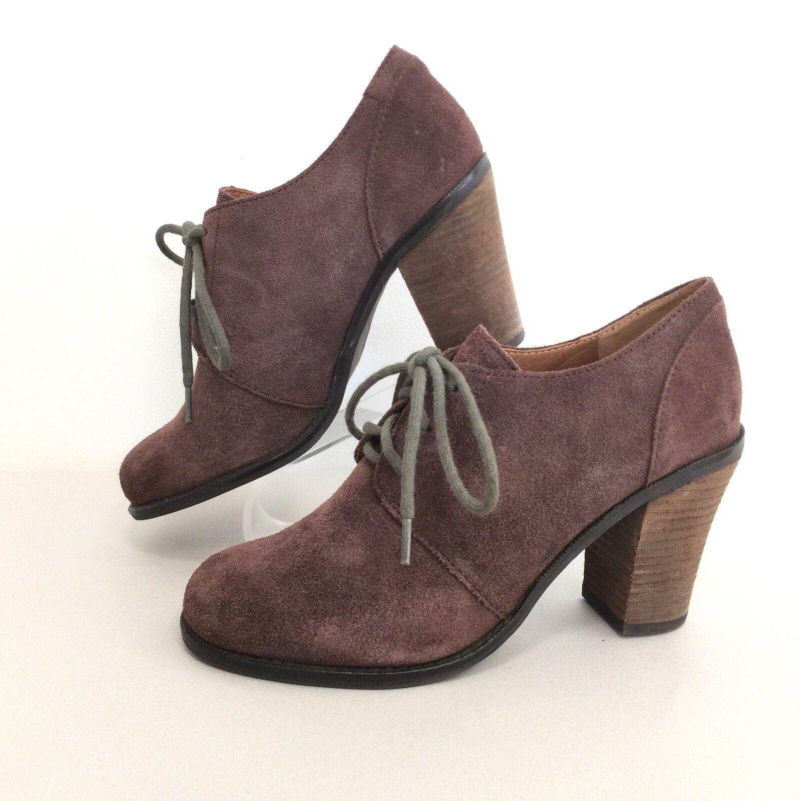 Lucky Brand Womens Sz 8M Mystique Brown Leather Lace Up Bootie shoes 8M EUR 38