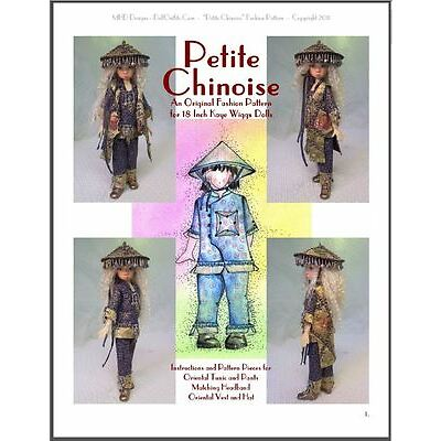 """Petite Chinoise"" 18 inch Ball Jointed Doll Kaye Wiggs Fashion Clothing Pattern"