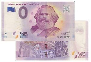 Trêves Karl Marx 1818 2018 2018 1 Zéro Euro Souvenir Fictif 0