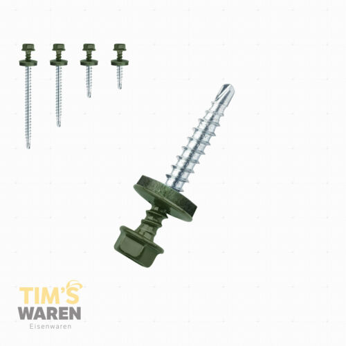 Trapezblech Schrauben 6020 CHROMOXIDGRÜN Schrauben für Trapezblech Bohrschrauben