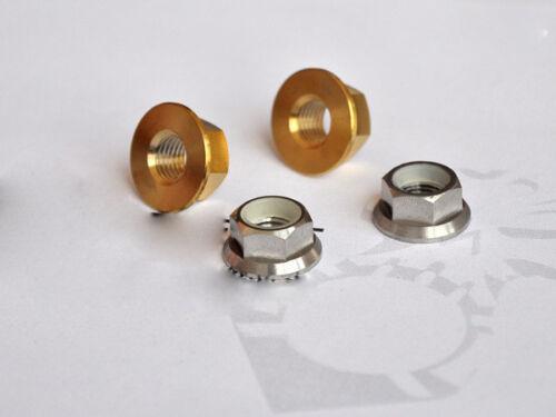 10pcs M5 M6 M8 M10 M14 Ti Nuts Titanium Caulking Nut Self-locking Nuts