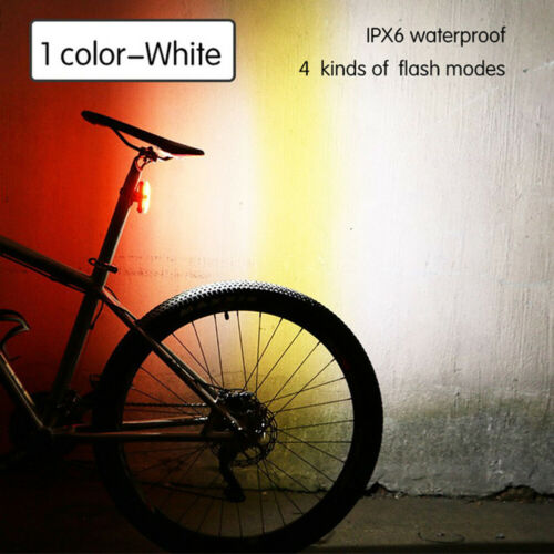 Bike Tail Light USB Rechargeable LED Bicycle Safety Warning Rear Lamp Outdoor CN