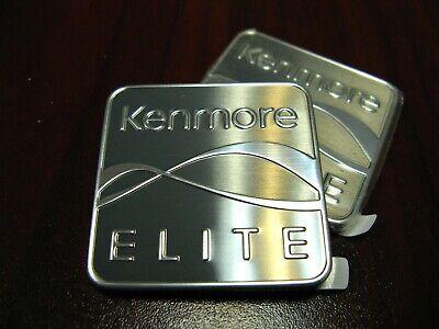 1.25 inch square 2 sets brand new LG Kenmore Elite Nameplate Genuine OEM part